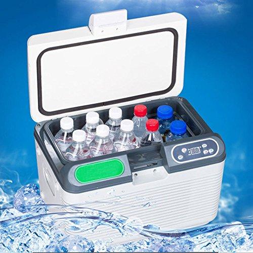 YF-COOL 19L Mini Kühlschrank Tragbare Schnelle Kühlkompressor Kühlbox Gefrierbox Mit 12/24/220 Volt Anschluss Für PKW Und LKW White-19L