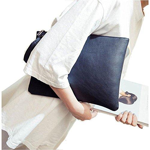 ZOONAI Übergroße Clutch Bag Geldbörse, Womens Große Leder Abend Wristlet Handtasche