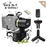 FeiyuTech WG2 3-Axis Gimbal, IP67 360 Degree Splashproof Gimbal Stabilizer, Waterproof Wearable Cameras Gimbal for GoPro HERO5 / 4 Session AEE SJCam and Similar Size Cameras with Carrying Case Smart Remote and Tripod