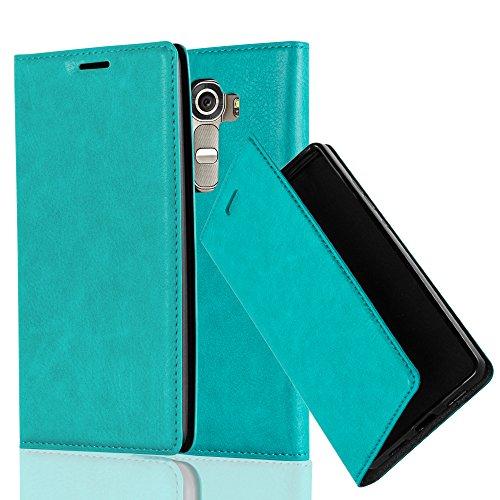 Cadorabo Hülle für LG G4 - Hülle in Petrol TÜRKIS - Handyhülle mit Magnetverschluss, Standfunktion & Kartenfach - Case Cover Schutzhülle Etui Tasche Book Klapp Style