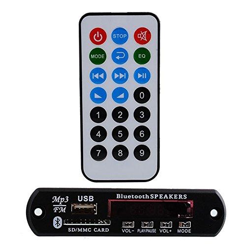 Sedeta® DC 12V Remote USB SD FM MP3 Player Module Car Auto Digital LED AUX MP3 Decode Board Amplifier Remote (Led-auto Mp3-player-modul)