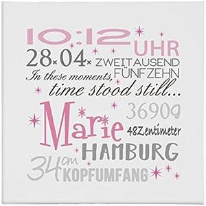 Geburtsbild Geburtsdatenbild Geburtsanzeige Marie