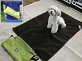 ZHJZ Weich Plüsch Pet Hundebett Tragbar Outdoor/Indoor Wasserdicht Snuggle Komfort Wendbar Pet Dog Travel Decke Decke Badteppich in 2Farben (Grün)