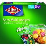 Albal - Aroma micro, bolsas herméticas, 2 paquetes, cada uno conteniendo 20 x 0, 2 l y 20 x 0.4