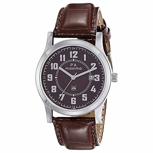 Maxima Analog Brown Dial Men's Watch - O-46862LMGI