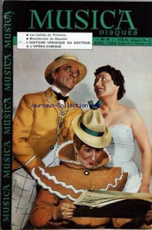 MUSICA DISQUES [No 61] du 01/04/1959 - CLASSIQUE ET JAZZ - VARIETES ET DANSE - ROBERT CASADESUS - DECORS D'OPERA ET DE BALLET - BAGUETTES - G.F. HAENDEL - REQUIEM - MAURICE DURUFLE - HECTOR BERLIOZ - RICHARD WAGNER - A MARSEILLE - ROBERT CASADESUS - MUSIQUE IBERIQUE