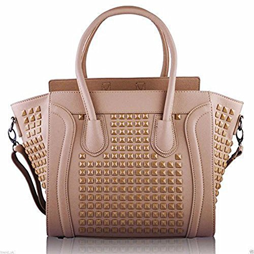 TrendStar Damen Designer Faux Leder Promi Stil Tragetaschen Schulterbeutel Handtaschen (Luxe Leder-satchel)
