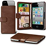 i-Tronixs (Brown +Earphones 145 x73) case for Medion Life