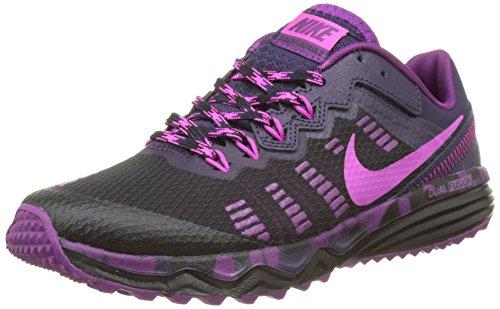Nike Damen WMNS Dual Fusion Trail 2 Laufschuhe, (Schwarz/Fire Pink-Purple Dynasty-Bright Grape), 38 EU (Nike Fusion Frauen)