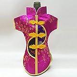 DAMENGXIANG (2 Teile/Satz) Chinesischen Stil Tang Suit Weinflasche Abdeckung Taschen Weihnachten Home Dinner Party Weihnachten Navidad Dekoration Geschenk Stil 5
