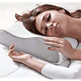 MOJOREST Cervical Contour Memory Foam Pillow for Sleeping, Orthopedic Pillow for Neck Pain,Contour Pillow Support for Back,Stomach,Side Sleepers,with Breathable Zip Cover (King: 24X14X4)