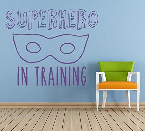 Superhero in Training Quote, Vinyl Wall Art Sticker, Mural, Decal. Home, Wall Decor. Children's bedroom, Nursery, Playroom