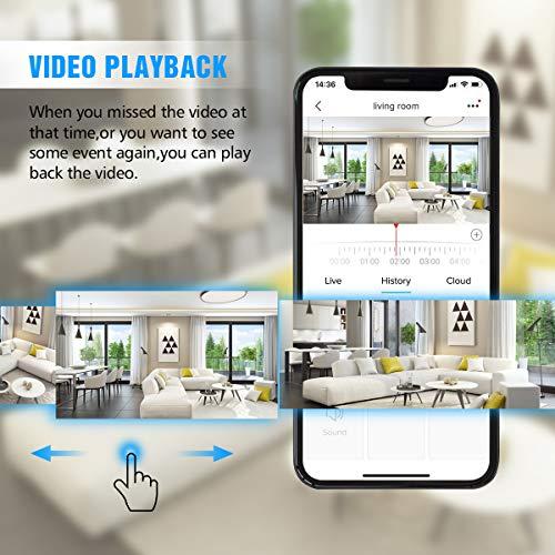 Telecamera Wi-Fi senza fili,DIGOO 720P Camera IP 2 4G Videocamera di  Sorveglianza Wireless Interno,Audio Bidirezionale,Modalità Notturna a