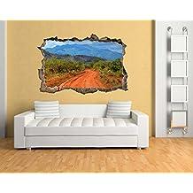 XXL (1,80 M) a través de la sabana africana para pared con diseño de calle de en 3D-con aspecto de madera de Kenia para un gran efecto de pared BS1595