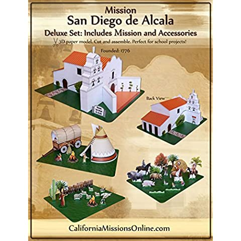 Mission San Diego de Alcala Model Deluxe Set by California - Deluxe Diego