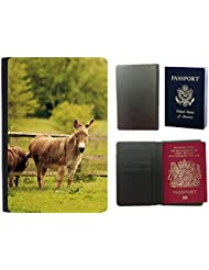 Passeport Voyage Couverture Protector // V00003254 burros // Universal passport leather cover