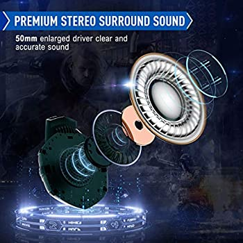 ONIKUMA - Cuffie da gioco per PC, con microfono e cuffie PS4 per PS4 PC Xbox One, adattatore Nintendo Switch non incluso
