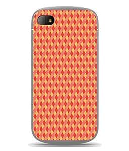 PrintVisa Designer Back Case Cover for Blackberry Q10 (Matty Box Round Design Texture Matefinish Yellow)