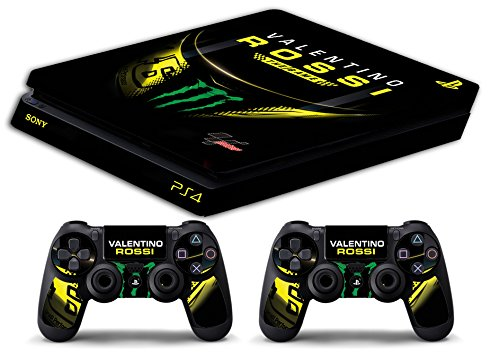Skin Ps4 SLIM - VALENTINO ROSSI THE GAME THE DOCTOR 46 - limited edition DECAL COVER ADESIVA Playstation 4 Slim SONY BUNDLE
