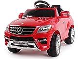 Auto elettrica per bambini MERCEDES-BENZ ML 350 SUV Scala 1:4 con licenza ufficiale. Può trasportare bambini fino a 20 Kg di peso. Marcia avanti e marcia indietro,ma la particolarità che fa unica questa auto è il radiocomando. Potrete guidare...