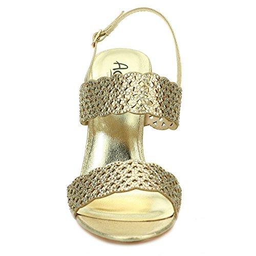 Aarz femmes Ladies Wedding Party Soirée Comfort Diamante haut Sandales à talons Chaussures Taille (Or, Argent, Noir) Or