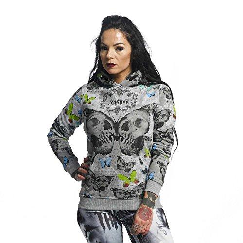Yakuza Original Damen Butterfly Flex Hoodie Kapuzenpullover (Butterfly Hoodie Sweatshirt)