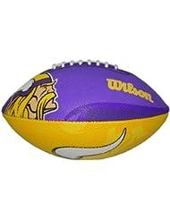 Wilson Football NFL Junior Minnesota Vikings Cowboys Logo - Balón de fútbol americano ( infantil, caucho ) , color multicolor, talla 5
