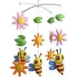 Krippe Musical Mobile, [Happy Mood] Geschenk für Baby-[Blume und Biene]