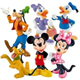 Bullyland Disney Set di  6 Figure: Mickey Donald Daisy Minnie Goofy Pluto