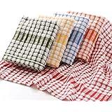 Aloud Creations Cotton Kitchen Towel (Multicolour, Large Size) - Pack of 3
