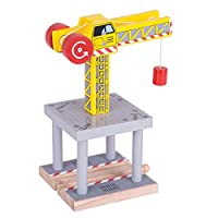 Bigjigs Rail Big Yellow Crane - Other Major Wooden Rail Brands are Compatible