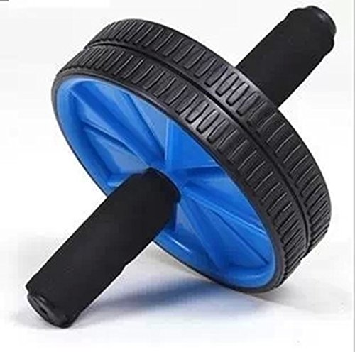 ABS ABDOMINAL EXERCISE WHEEL GYM FITNESS MACHINE BODY STRENGTH TRAINING ROLLER (blue)
