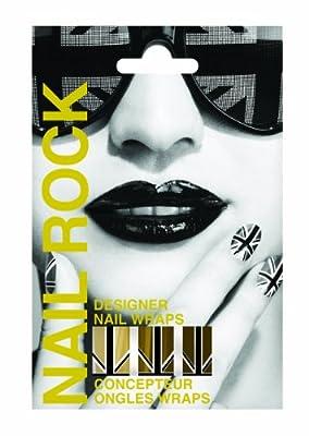 Nail Rock Union Jack Gold Nail Wraps