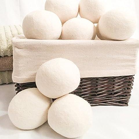 Blulover 8Pcs Xl Laine Seche Balle Tissu Reutilisable De Francklin Adoucisseur Balls Pour Machine De Sechage Des Vetements