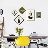 Aha Yo-Creative Cornice Fotografica Muro Adesivi Camera Dei Bambini Da Salotto Divano Sfondo Muro Vetrina Vetro Muro Decorativo Adesivo Diy,Animale Erba Frame