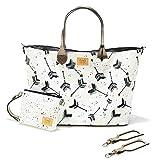Sevira Kids - Tasche Wickel- multifunktion - Handtasche - wasserdicht und widerstandsfähig - Brieftasche passend und Riemen Universal zur Verfügung gestellt - Boho Arrows Weiß, 45 x 29 cm (+/- 2 cm)