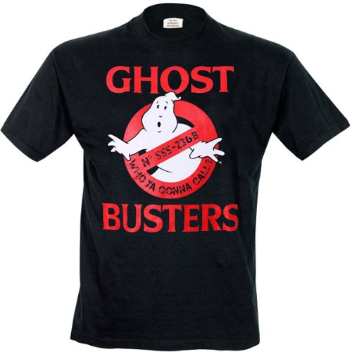 Ghostbusters - Ghostbusters Logo, T-shirt da uomo, nero (noir), Small (Taglia Produttore: S)