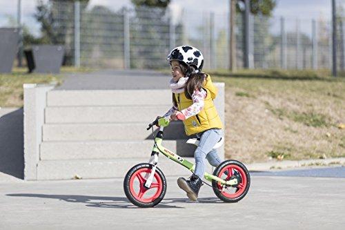 Kettler Laufrad Speedy Emma 2.0 - das ideale Lauflernrad - Kinderlaufrad mit Reifengröße: 12,5 Zoll - stabiles & sicheres Laufrad ab 3 Jahren - grün & rot