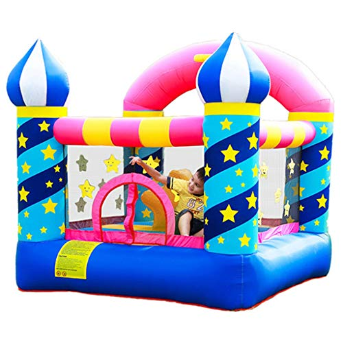 Bouncy Castles Children's Toys Indoor Playground Large Toys Children's Outdoor Trampoline Slide (Color : Multi-colored, Size : 225 * 220 * 215cm)
