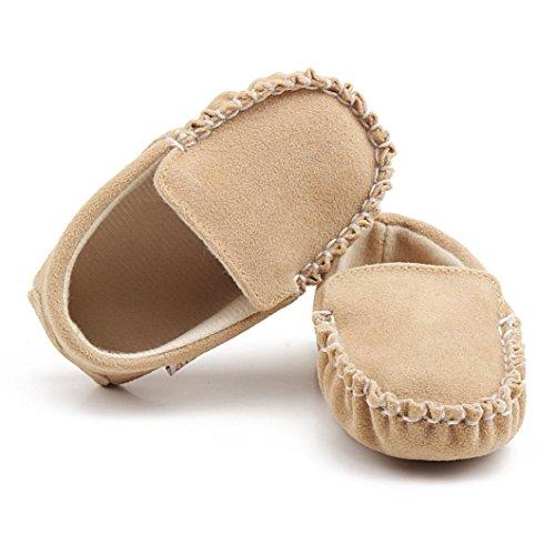 Sapatos 18 0 Babyschuhe Baby velours Cáqui Lauflernschuhe ~ Único Double Sapato Flats Meses Sapatos Girl Longra Manjedoura Suaves 8RwZ58fq