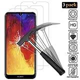 ANEWSIR Verre Trempé pour Huawei Y6 2019,Protection écran Huawei Y6 2019,[sans Bulle][9H dureté][Coque Compatible] [3 Pièces]