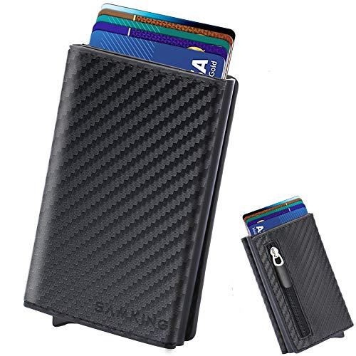 """""""❤Principales características Función de bloqueo de RFID: el bloqueo de RFID protege las tarjetas de los escaneados no autorizados, para que no se preocupe por el bolsillo electrónico de la selección. Diseño emergente automático: Hay un botón en la p..."""