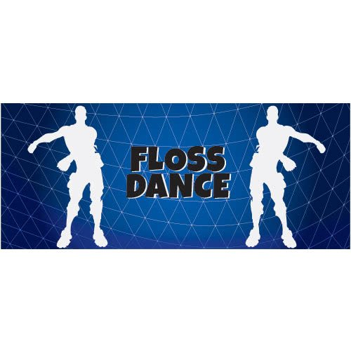 Fortnite Floss Dance Silhouette PVC Party Sign Decoration 60cm x 25cm