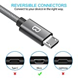 Micro USB Cable,Beikell [2-Pack 6.6ft/2M] 2.4A High Speed Nylon Braided Android Micro USB Charging Sync Cable for Samsung, Nexus, LG, Sony,PS4, HTC, Motorola, Kindle, Nokia and More