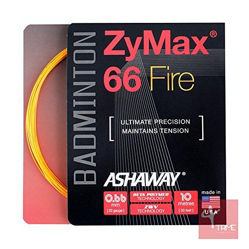 ASHAWAY zymaz 66Fire 0,66mm Badminton Saite Set-Orange (Ashaway Saite Badminton)