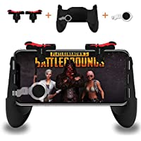 Smiler+ Controlador de Juegos móvil, Disparo Sensible y Aim Keys L1R1 y Gamepad para PUBG/Fortnite / Reglas de Supervivencia, Joysticks de Juegos móviles para Android iOS (1 par + 1 Gamepad)