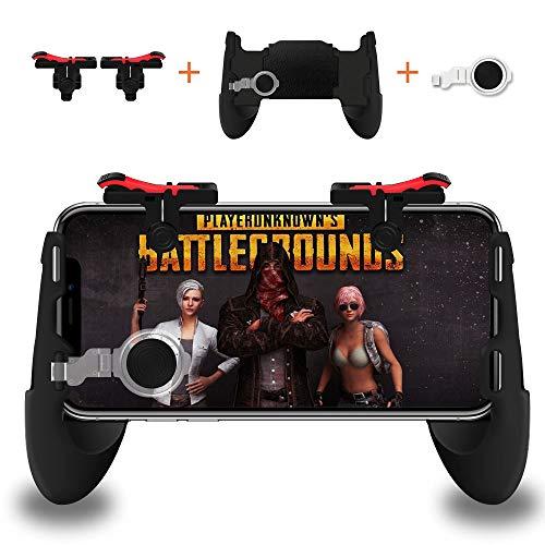 Mobile Game Controller, Smiler + Sensitive Schießen und Ziel Schlüssel L1R1 und Gamepad für PUBG / Fortnite / Regeln des Überlebens, Mobile Gaming Joysticks für Smartphone (1 Paar + 1 Gamepad)