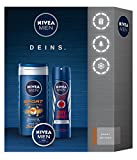 Nivea Men Set de regalo para hombres con gel de ducha, Deodorant y crema, deportes, 3unidades)
