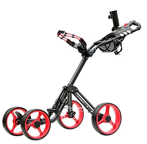 Caddytek Superlite Explorer 4roues chariot de golf, Rouge
