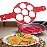 #9: Evana New Perfect Pancakes Silicone Flippin' Fantastic Non-stick Pancake Maker Egg Ring Flip Breakfast Omelets Kitchen Baking Tools